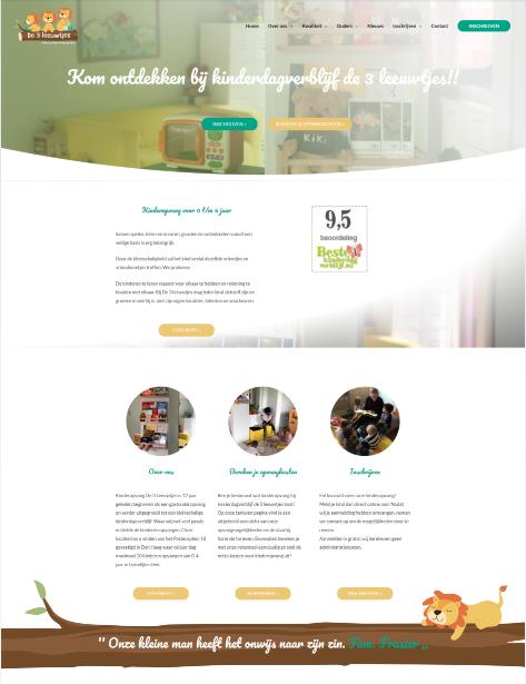 kinderdagverblijf website door kinderopvang webdesign